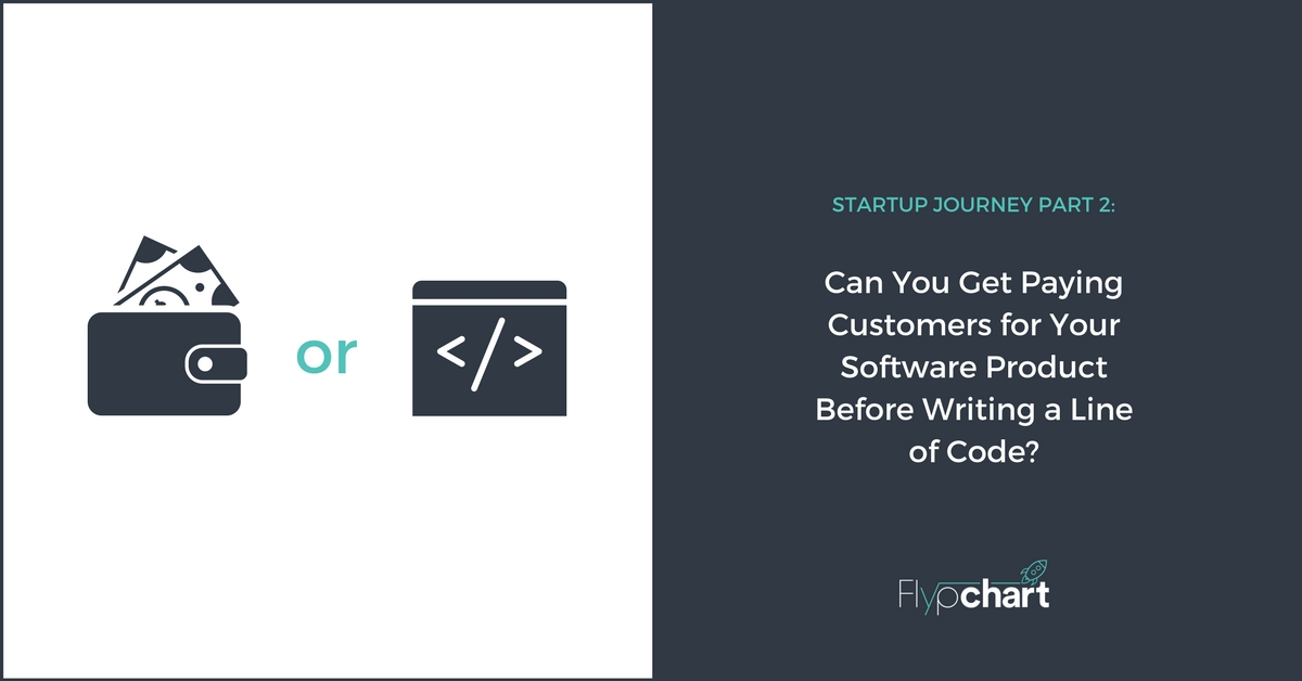 Can You Get Paying Customers for Your Software Product Before Writing a Line of Code-