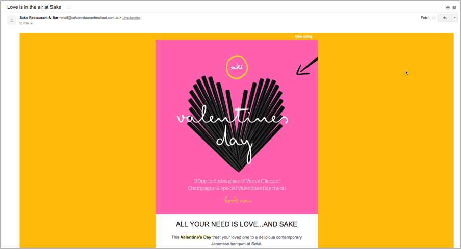 Content marketing calendar - valentine's day