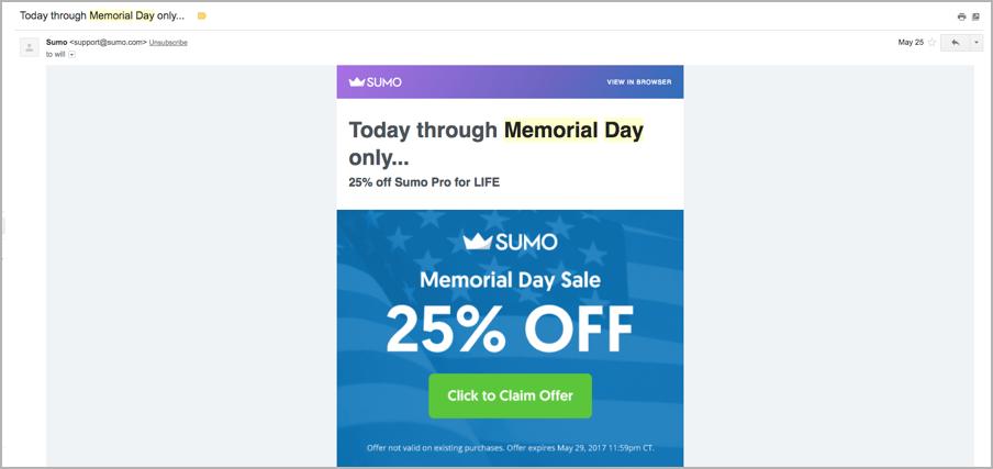 Content marketing calendar - Memorial Day