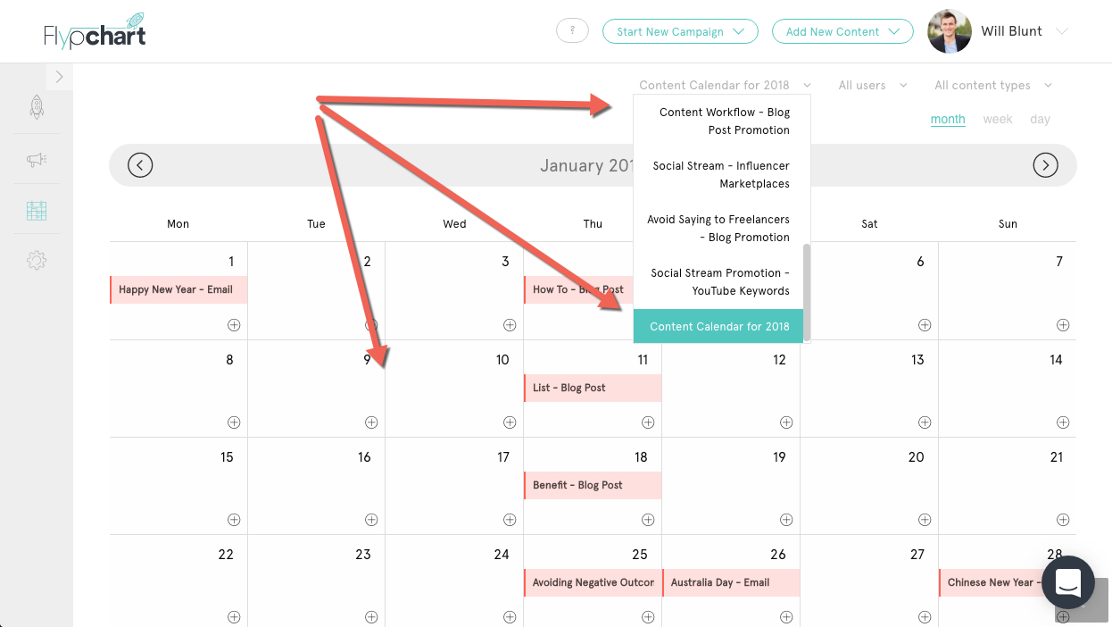 Content marketing calendar 3