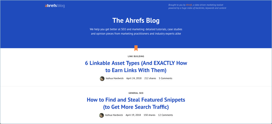 Ahrefs - Best Digital Marketing Blogs