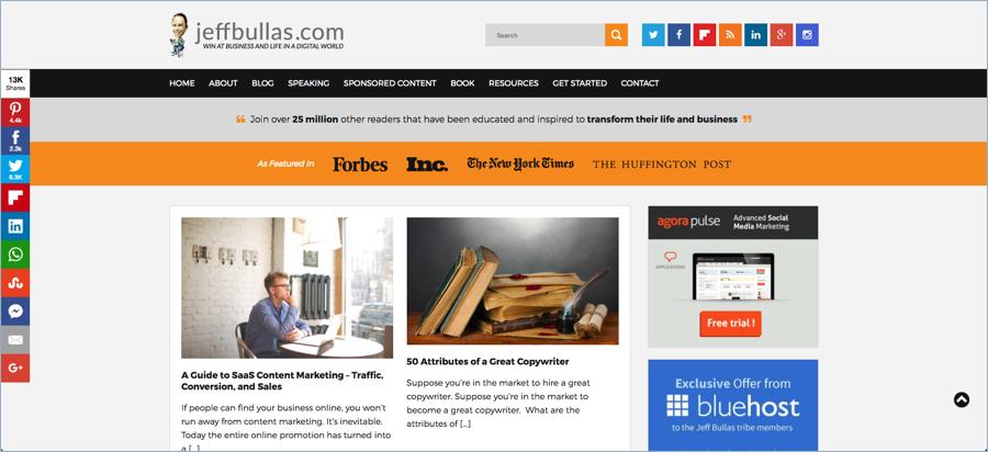 Jeff Bullas - Best Digital Marketing Blogs