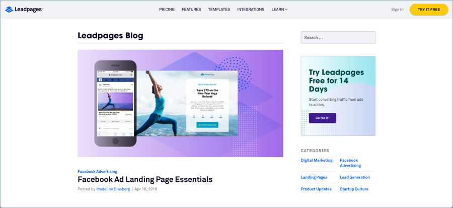 Leadpages - Best Digital Marketing Blogs
