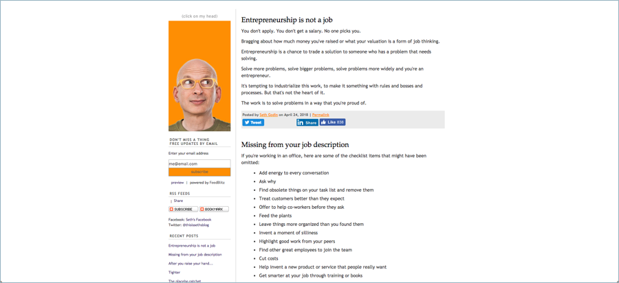 Seth Godin - Best Digital Marketing Blogs
