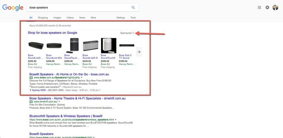 Bose-speakers-in-Google-adwords